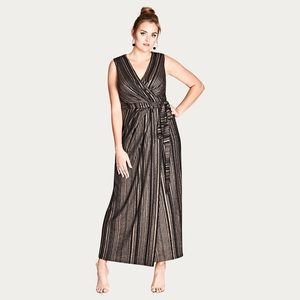 City Chic Cleo black wrap maxi dress